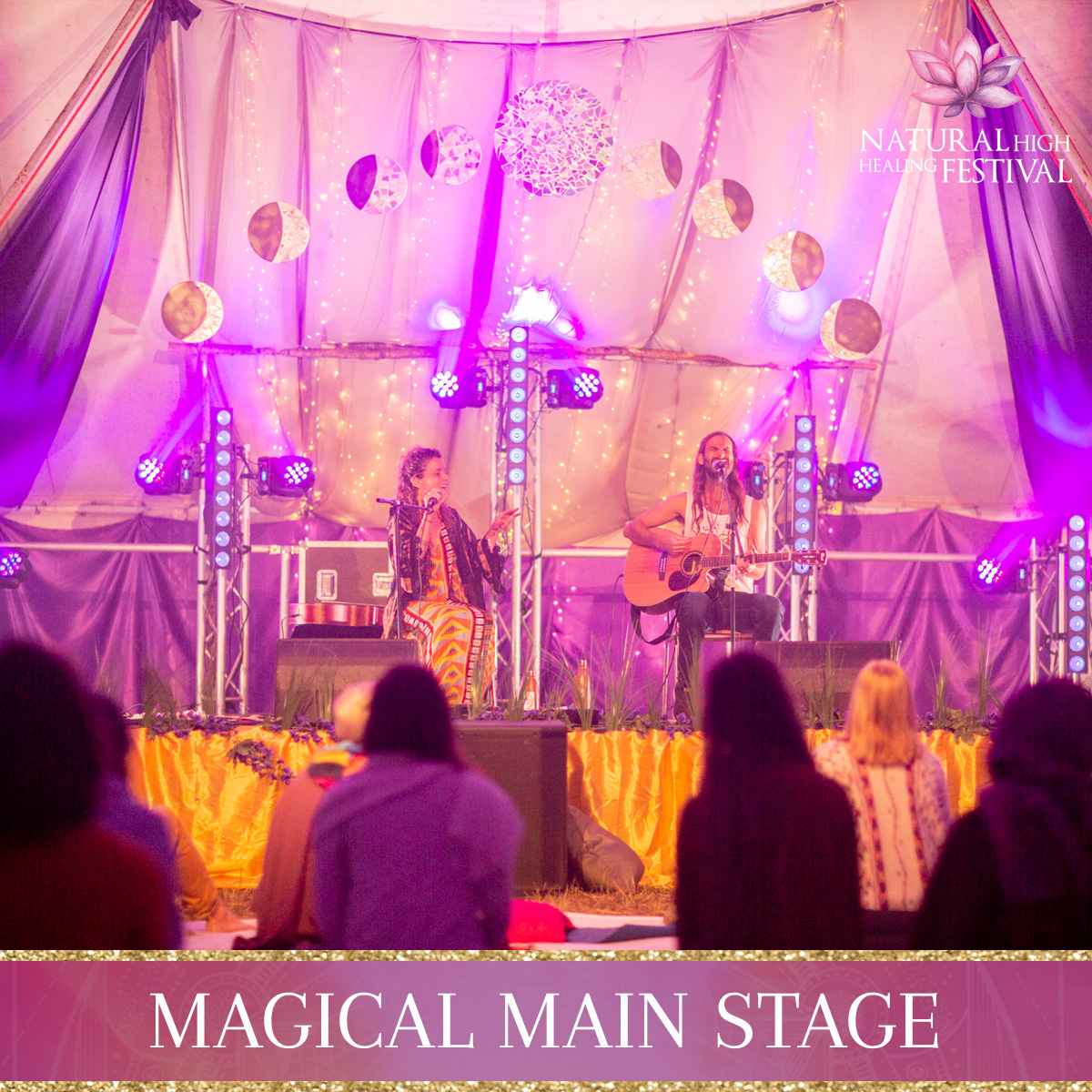main stage at natural high festival