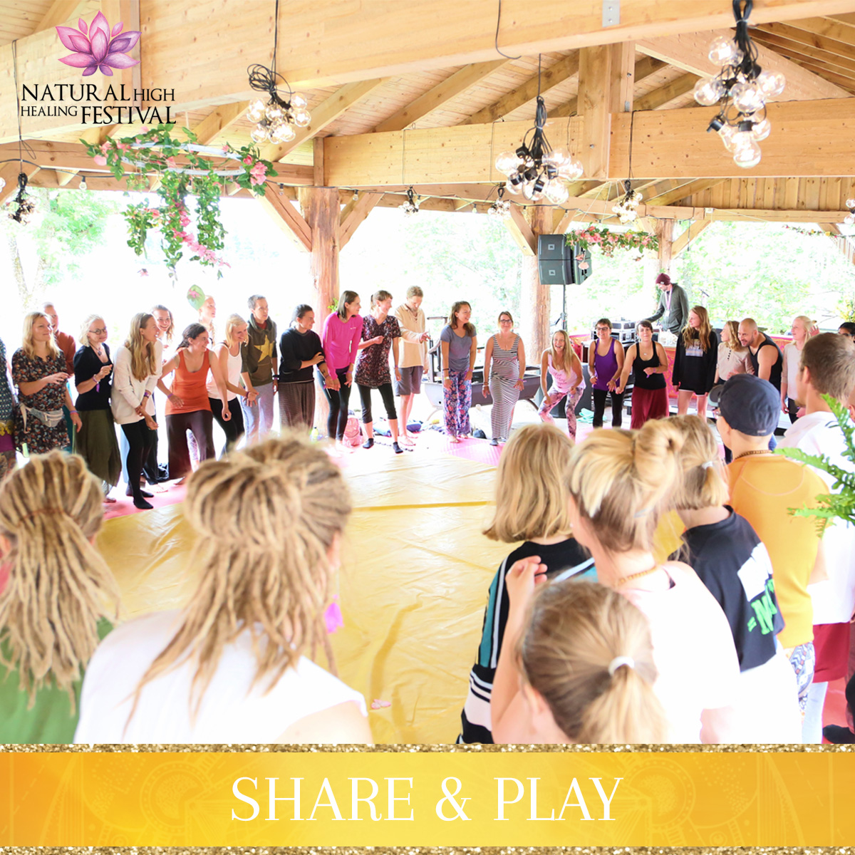 share and play at natural high healing festival
